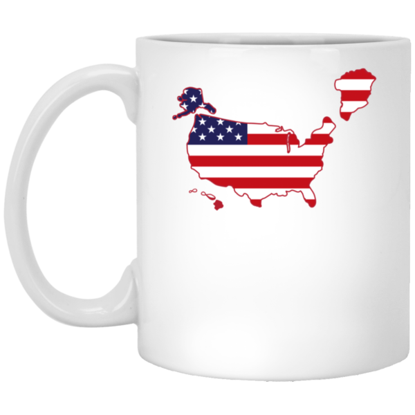Greenland US map Mug 1
